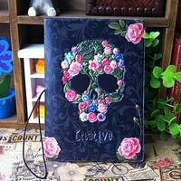 2014 New Fashion Skull Rose Flower Design Passport holder Passport Cover Skeleton Passport Case