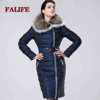 2014 Hot Thicken Warm Woman Down Jacket Slim Coats Outerwear Duck Parka Hooded Raccoon Fur collar Luxury Long Plus Size6XXXXXXL