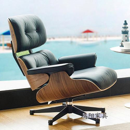 Eames Chaise cadeira espreguiçadeira cadeira de couro cheia cadeira reclinável escritório designer de varanda cadeira de balanço Imperador(China (Mainland))