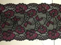 15cm width 500cm length black elastic stretch wide lace trim DIY garment apparel zakka craft Sewing lace garter headband