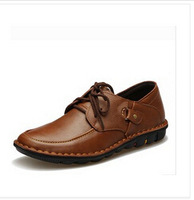 The new men's spring breathable leather first layer of leather men's shoes