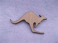 Australia standing Kangaroo designs wood brooches pin