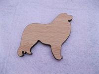 maremma sheep dogs wood brooches pin
