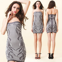 hot selling sleeveless light  bandage dress sexy tank dresses