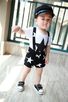2014 Summer Star Boy Girl Clothes Good Quality Bib + Pullover Good Cotton Cheap Price XET1122