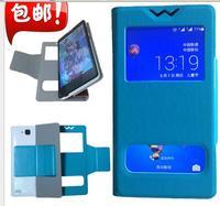 wholesale 30% off!! 5 color  unique windows Luxury  Leather flip case for SONY XPeria Z1 L39H Phone Bag Cover