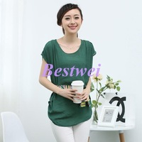 Free Shipping High Quality Large Size Women's 2014 Summer New Collection Korean Version Simple Loose Linen Cotton Shirt T-shirt
