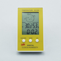 New Digital LCD Indoor Weather Humidity Hygrometer Thermometer Meter Gauge Timer Clock