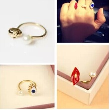 new arrival  pearl sexy red lip/ evil blue eye/ skull skeleton opened cuff Ring JZ-021