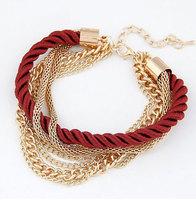 Hot Sale European Style Fashion Multilayer Knit Rope Bracelets Women Luxury Chain Bracelet Jewelry L0312
