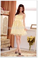 Free Shipping Fashion Uncommon 2014 Strapless Dress