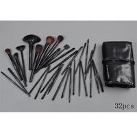 Free shipping,NO 037 32 pcs make up cosmetic brush set with bag makeup brush