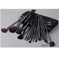 Free shipping,NO 039 15 pcs Cosmetic brush set ,animal wool makeup brush