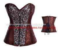 Stsrhc jacquard zipper shapewear vest fashion royal corset shaper corset waist