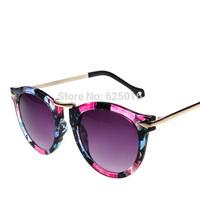 NEW 2014 band eyewear gradient red acetate Frame Retro round mirror  women sunglasses women /sunglasses women brand designer