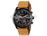 CURREN 3ATM Waterproof Quartz Business Men's Watches,Men's Military Watches,Men's Leather Strap Sports Watches