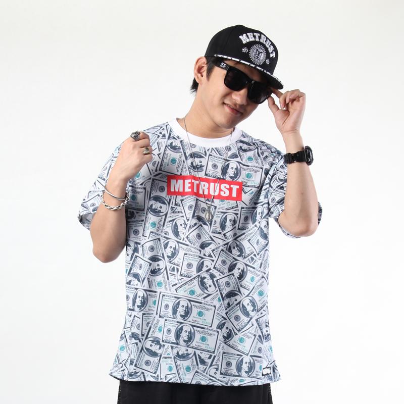 street fashion hiphop hip hop bboy le loose short sleeve t shirt men plus size t shirt hommes camiseta(China (Mainland))
