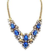 European and American Popular Brand Designer Crystal Necklaces Women Vintage Rhinestone Necklace L0311