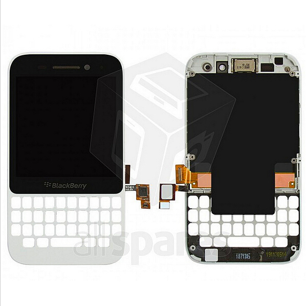 LCD for Blackberry Q5 Cell Phone, (white, with touchscreen, with front panel)(China (Mainland))