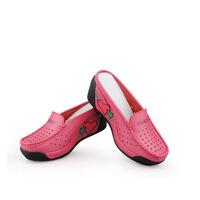 new 2014 women sandals woman causal genuine leather fretwork shoes fashion wedges platform sandals wholesale shoes