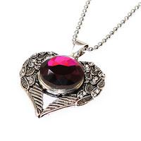 DIY necklace heart pendant,heart pendant for snap button charm encklace,interchangeable necklace,diy heart pendant necklace