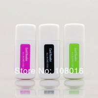 FREE SHIPPING,  high quality, 1pcs/lot ,USB2.0 swivel card reader for TF/SD/ MMC / RS-MMC /MS/MS adapter