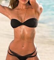 Europe Victoria's Body Chain Multilayers Tassel 24K Gold Necklace Summer Fashion Women Accessories Sexy Bikini Body Jewelry
