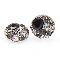 New antiqued pewter crystal fastener button charms crystal snap charm bracelets and jewelry snap bracelet/rings