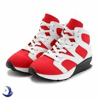 Hot 2014 new fashion high-top women sneakers for womens brand flat heel leather + hollow mesh sneakers and women's shoes A99