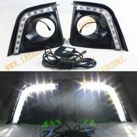 2014 LED Daytime Running Lights For Toyota Corolla 2014 DRL LED Daylight Auto Car Fog Lamp Fog light for toyota Free Ship HKpost