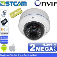 STCAM HD 2MP 1080P 3-12mm 4X Zoom varifocal  lens CMOS Aptina Dome cam 15m IR CCTV IP  indoor/outdoor camera,POE optional