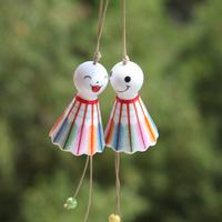 2014 curtain lembrancinhas de casamento ceramic crafts decoration 1pc japanese style multi-colored badminton small doll home