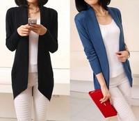 Women Long Cardigan 2014 HOT fashion women knitted sweater cardigan outerwear shawl long sleeve jacket knitwear coats