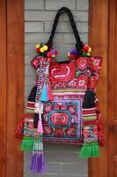 Minority Style Handmade Embroidery Woman Handbag/Tote Bag National Trend Oversized Bag Tassel Canvas Bag/Shoulder Bag