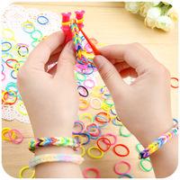 Multicolour diy bracelet male women's honey personality lovers bracelet hair rope bracelet rubber band