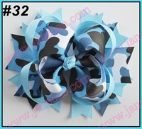 free shipping 22pcs 5.5'' big  hair bows girl hair accessories popular  hair clips