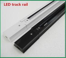 1m LED track rail,Track light rail connectors,Universal rails,aluminum track,lighting fixtures,Black,White(China (Mainland))