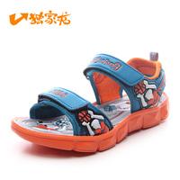 2014 summer big boy big kids teenager sports sandals child little ones sandals beach double velcro Unisex