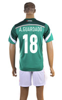 Cheap 2014 Brazil World Cup Soccer Jersey For Sale Mexico #18 A.Guardado Men Football Jersey Best Low Price