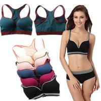 Free Shipping Women's Sports Tank Top Quality Push Up Fitness Women Vest Multi Colored Jogging Women Vest Bra Yoga