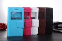 wholesale 30% off!! 5 color  windows  flip  Compact Slim Leather Flip Black Front Back Cover Case for LG G2 +free ship