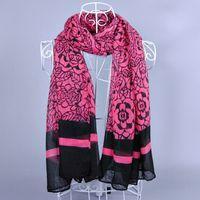 Women printe rose flower cotton shawls voile viscose plain fashion long hijab head scarves/scarf 10pcs/lot