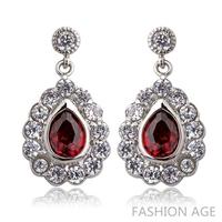 2014 New design Swiss Zircon Dangle Earrings exaggerated Austrian Crystal women's Drop earrings Platinum plated earrings(FE-103)