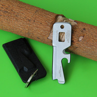 EDC 5 in 1 Wrench Key Ring Knife w/Sheath Multi-Tool Keychain, free shipping