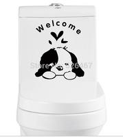 2014 new On sale! Free shipping wall sticker toliet sticker fridge sticer washing machine sticker welcome dog