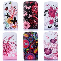 For Iphone 4 4G 4S New 2014 High quality Leather butterfly flower design Magnetic Holster Flip Leather Hard Case Cover B248-A