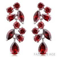 2014 New design Swiss Zircon Dangle Earrings exaggerated Austrian Crystal women's Drop earrings Platinum plated earrings(FE-104)