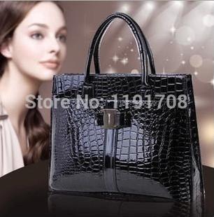 2014 the new Fake Crocodile women shoulder bag Retro Pack women handbag PU leather bags high quality tote bags(China (Mainland))