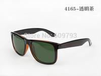 Hot Stylish Brand Name Sunglass Men's&Women's Designer 4165 JUSTIN Sunglass Black Frame Green Lens With Case Box Sport Glasses
