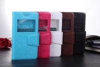 wholesale 30% off!! 5 color   windows  flip PU  Leather case for motorola G Phone Bag Cover +free ship